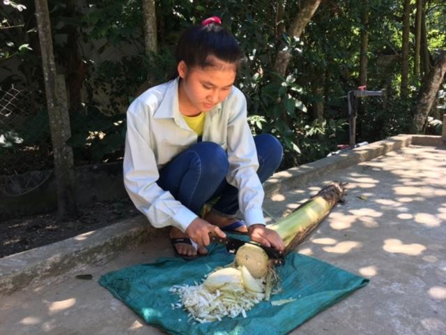 Cô bé chở nước cơm mồ côi cha, 8 năm liền học giỏi - Ảnh 1.