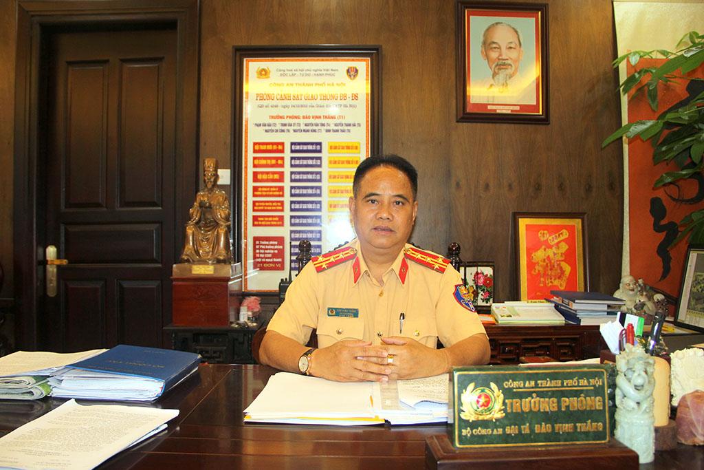 Đại tá ĐÀO VỊNH THẮNG (trưởng Phòng CSGT Hà Nội)