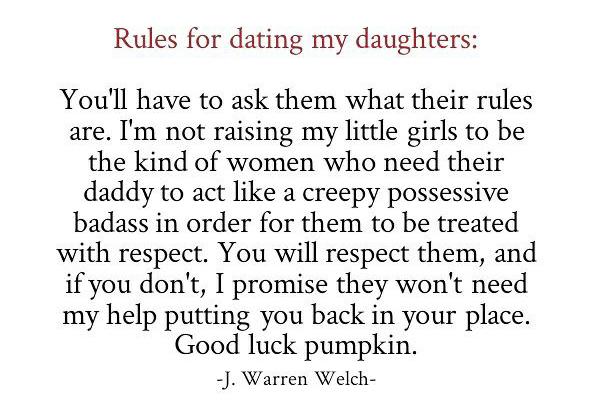 Ông bố ngầu ra luật hẹn hò cho con gái - Ảnh 1.
