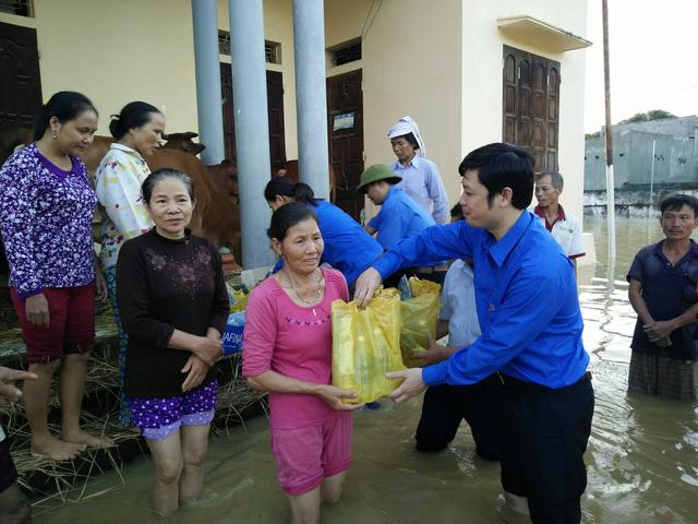Hàng nghìn thanh niên tình nguyện giúp dân sau mưa lũ miền Bắc - ảnh 9