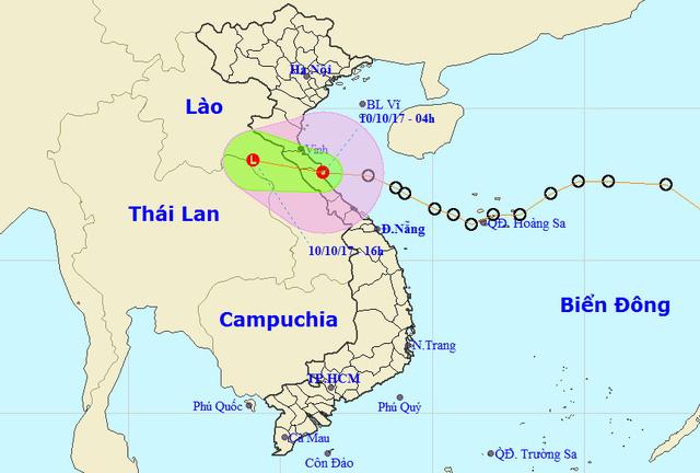 Áp thấp đã vào Hà Tĩnh-Quảng Bình, giật cấp 8 - Ảnh 1.