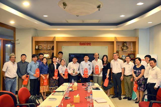 Đoàn nhà báo Lào tham quan báo Tuổi Trẻ - Ảnh 5.