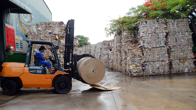 Trung Quốc khát giấy, gom sạch giấy cuộn từ Việt Nam - Ảnh 2.