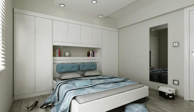 Phòng ngủ nhỏ nhưng vẫn đẹp ngất ngây nhờ khéo bố trí - Ảnh 1.