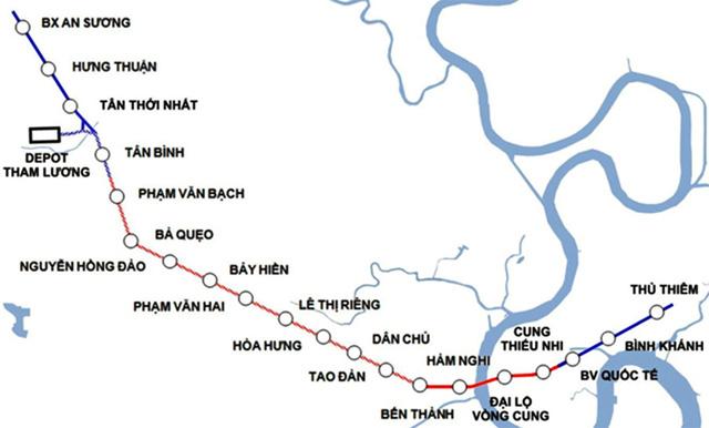 TP.HCM nghiên cứu nối dài tuyến metro số 2 - Ảnh 1.