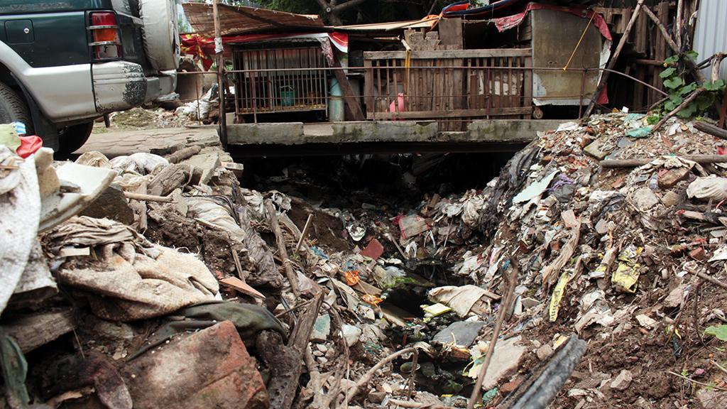 Hà Nội nhiều nơi rác thải tràn lan chất thành núi - Ảnh 2.