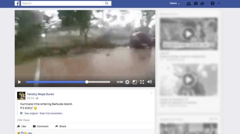 Bão tin giả ăn theo bão Irma kiếm triệu view - Ảnh 1.