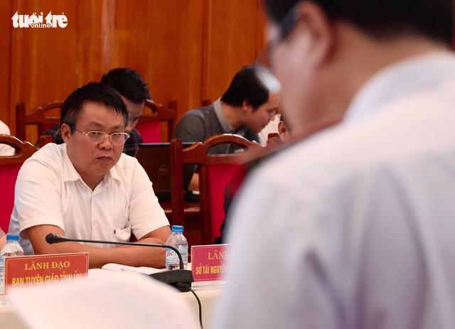 Cảnh cáo, cho ông Phạm Sỹ Quý thôi chức giám đốc Sở TN-MT Yên Bái - Ảnh 1.