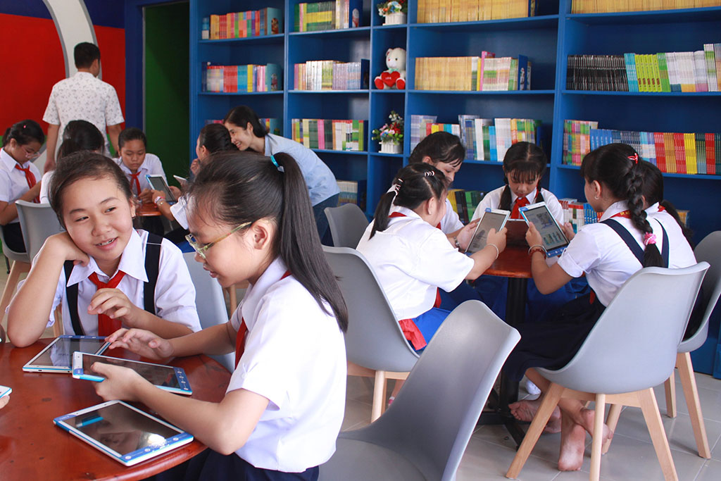 Thư viện thông minh đầu tiên của trường THCS - Ảnh 1.
