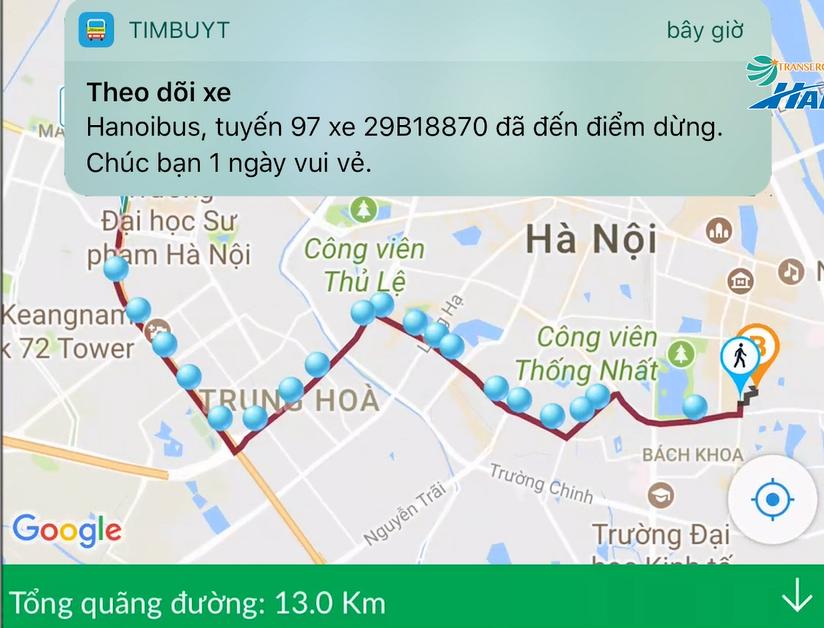 Dùng điện thoại thông minh tìm xe buýt ở Hà Nội - Ảnh 2.