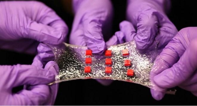 Chế tạo thành công thiết bị điện tử mới có thể kéo giãn - Ảnh 1.