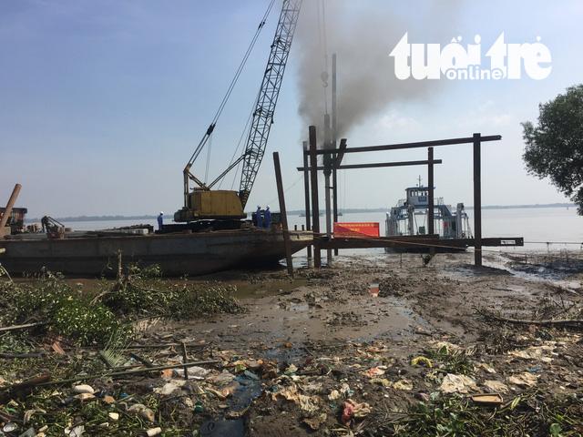 Tháng 4-2018, TP khánh thành bến phà Vàm Sát-Tân Tập - Ảnh 1.