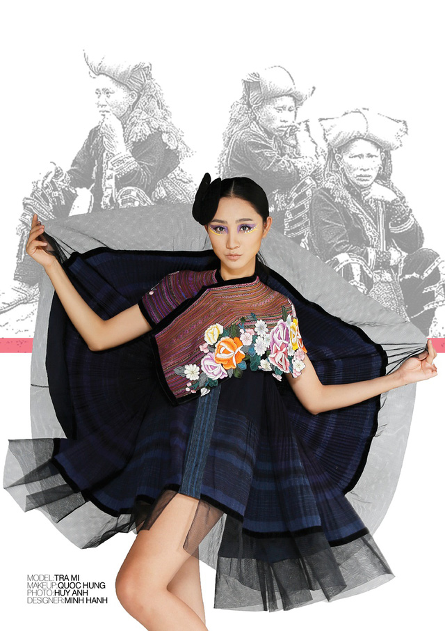 Nhà thiết kế Minh Hạnh mang bộ sưu tập thổ cẩm đến Geneve - Ảnh 2.