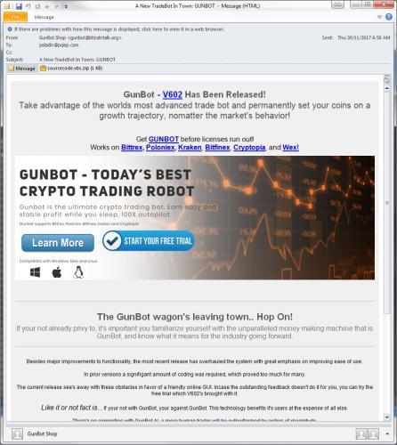 Người chơi Bitcoin hãy cẩn thận trước các quảng cáo mang tên Gunbot - Ảnh 1.
