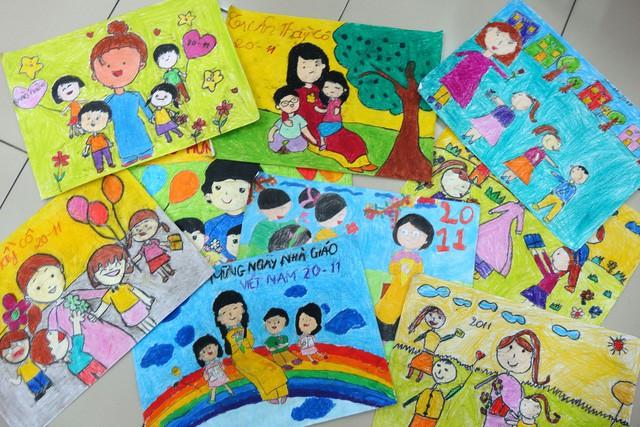 Thiệp 20-11 dễ thương học trò Sài Gòn tự làm tặng thầy cô - Ảnh 2.