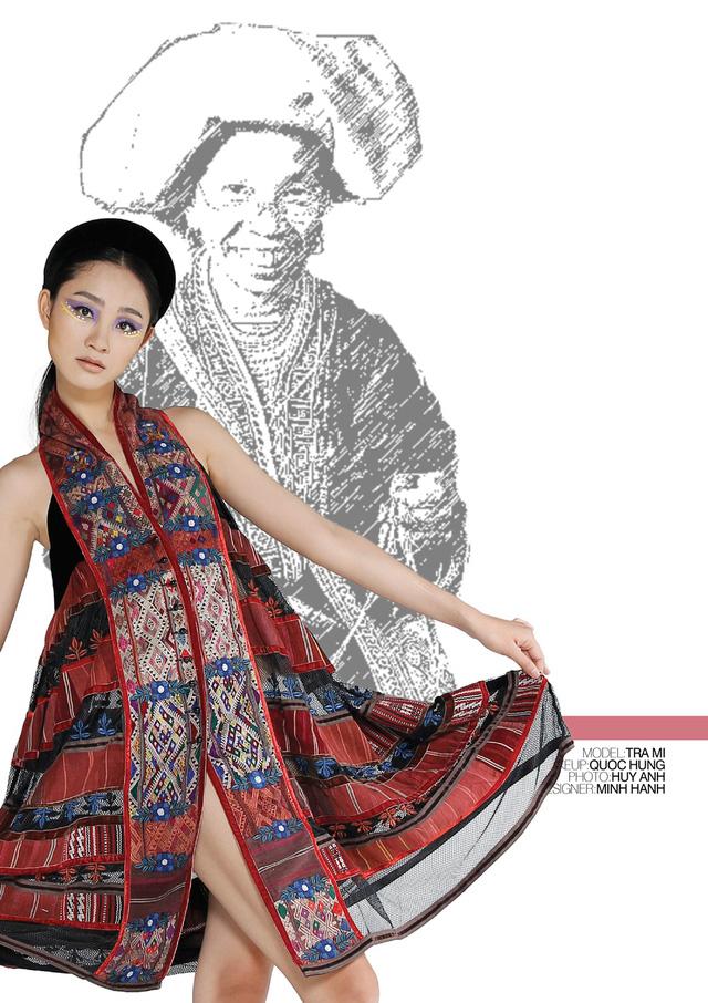 Nhà thiết kế Minh Hạnh mang bộ sưu tập thổ cẩm đến Geneve - Ảnh 1.