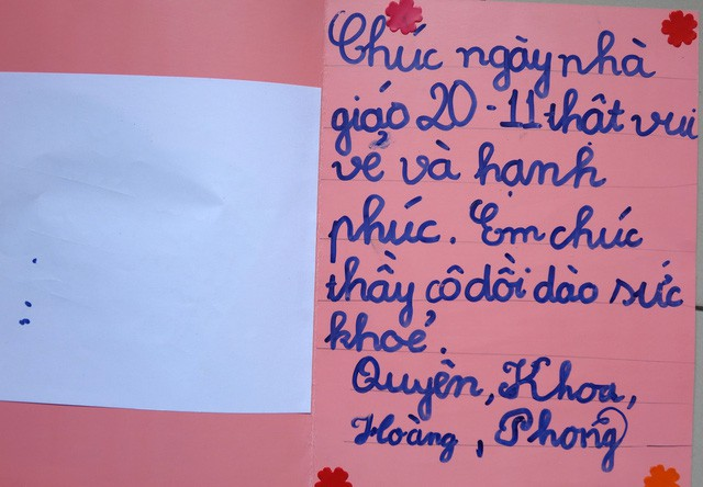 Thiệp 20-11 dễ thương học trò Sài Gòn tự làm tặng thầy cô - Ảnh 6.