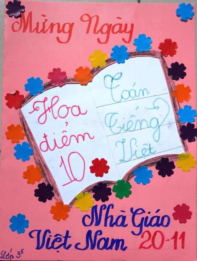Thiệp 20-11 dễ thương học trò Sài Gòn tự làm tặng thầy cô - Ảnh 7.