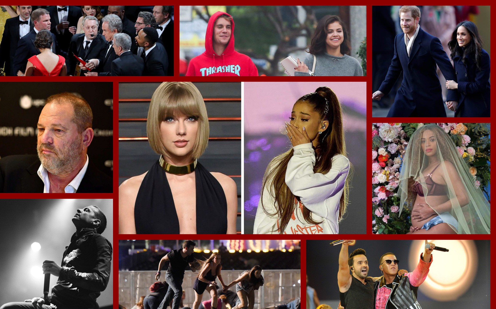Top 10 sự kiện ồn ào của làng giải trí thế giới 2017