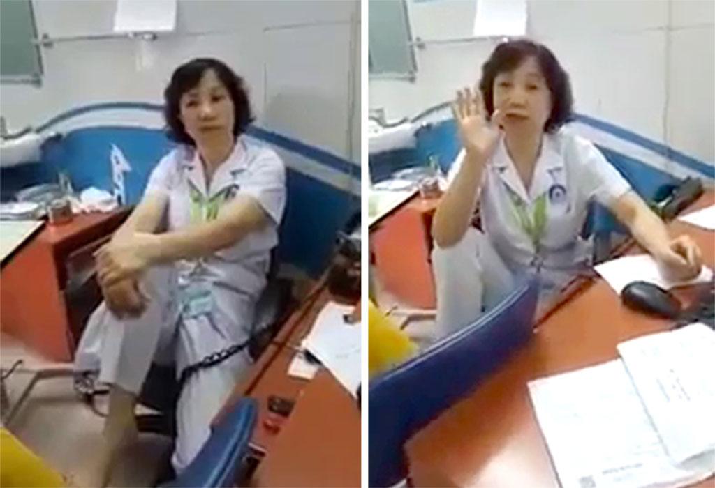 Bộ Y tế lên tiếng về bác sĩ gác chân trước người nhà bệnh nhân - Ảnh 1.