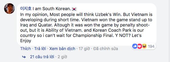 Dân mạng Hàn Quốc, Nhật Bản... liên tục cổ vũ U23 Việt Nam - Ảnh 9.