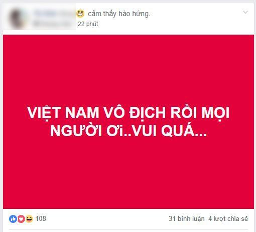 Dân mạng Việt Nam đang sướng rơn trong đêm vô địch! - Ảnh 1.