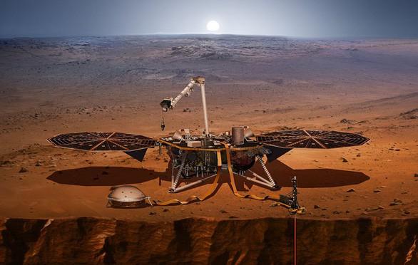 Tàu thăm dò Mars InSight của NASA bất ngờ ghi được tiếng gió trên Sao Hỏa - Ảnh 1.