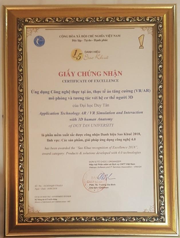 Giải thưởng Sao khuê 2018 vinh danh Ứng dụng 3D trong Y học của ĐH Duy Tân - Ảnh 2.
