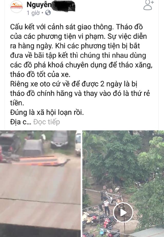 CSGT Hà Nội lên tiếng về clip tố CSGT tiếp tay tháo đồ xe vi phạm - Ảnh 2.
