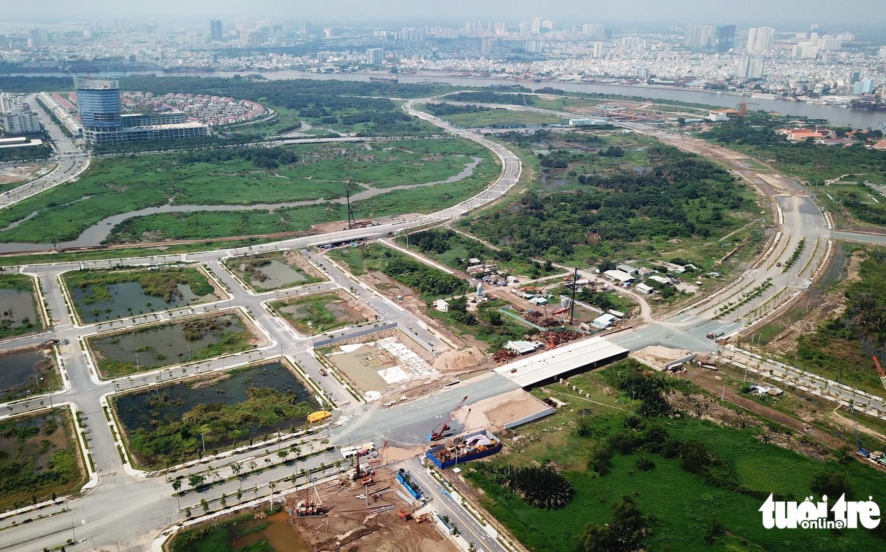 Cận cảnh 4 tuyến đường giá 'khủng' 12.000 tỉ ở Thủ Thiêm