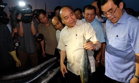 Thủ tướng Nguyễn Xuân Phúc mua cá của ngư dân Quảng Trị - Ảnh 1.
