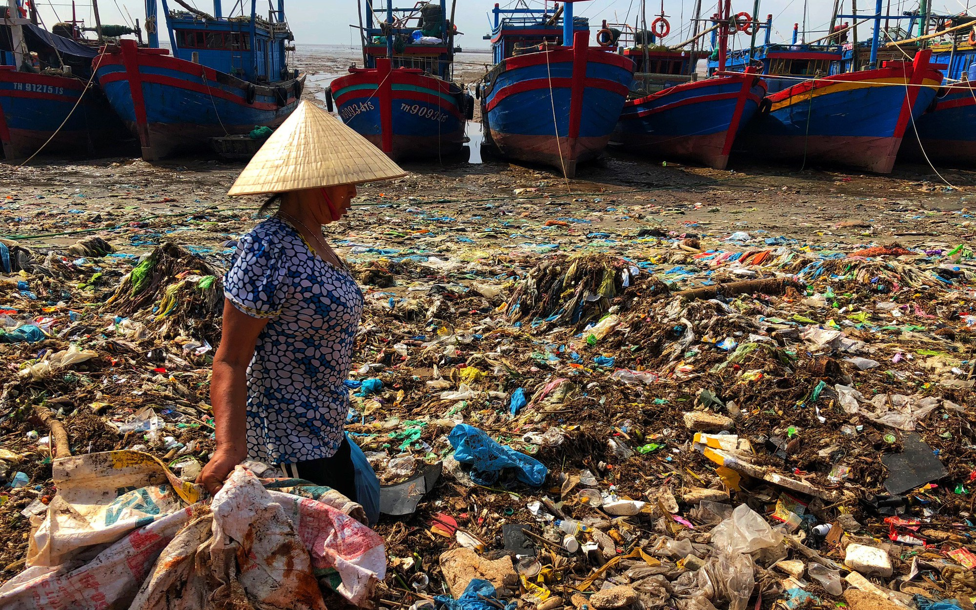 Kinh hoàng biển… rác ở Hậu Lộc, Thanh Hóa