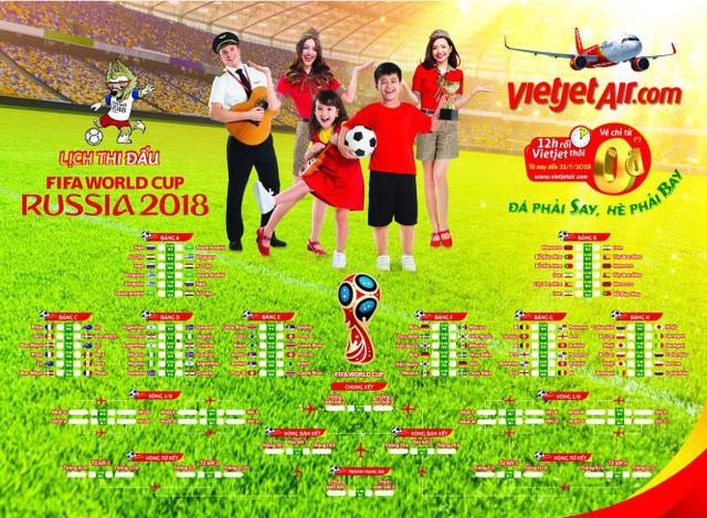 Tuổi Trẻ và Vietjet tặng bạn đọc lịch thi đấu World Cup 2018 - Ảnh 1.