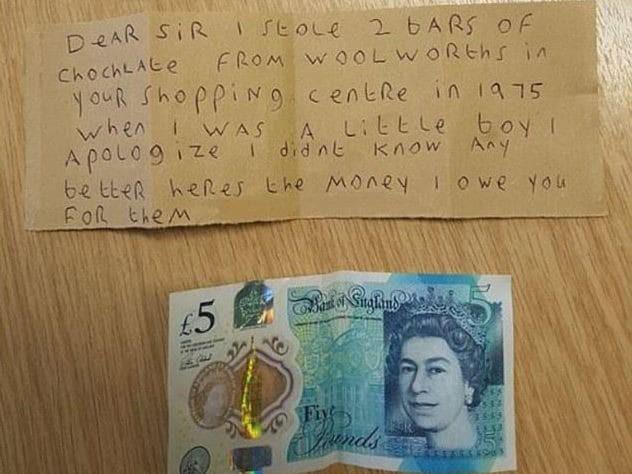 Tên trộm nhí gửi thư xin lỗi sau hơn 40 năm - Ảnh 1.