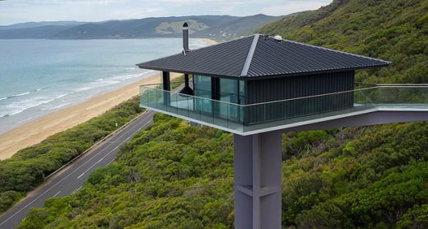 Ngôi nhà nghỉ dưỡng lơ lửng trên mặt biển ở Úc - Ảnh 5.