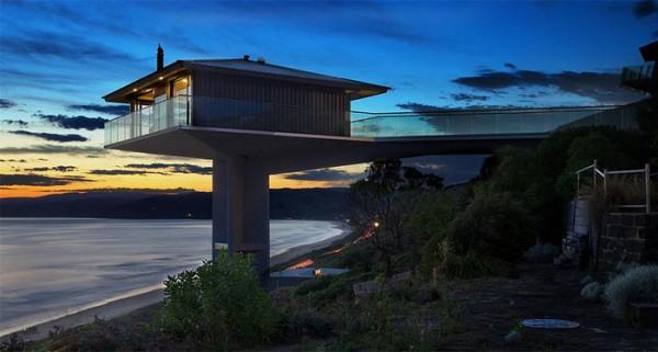 Ngôi nhà nghỉ dưỡng lơ lửng trên mặt biển ở Úc - Ảnh 3.