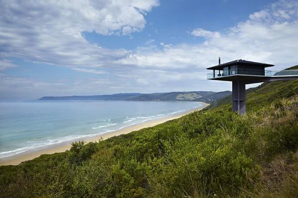 Ngôi nhà nghỉ dưỡng lơ lửng trên mặt biển ở Úc - Ảnh 4.