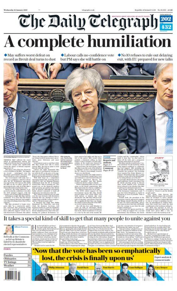 Báo Anh chỉ trích bà May sau thảm họa dự thảo Brexit - Ảnh 5.