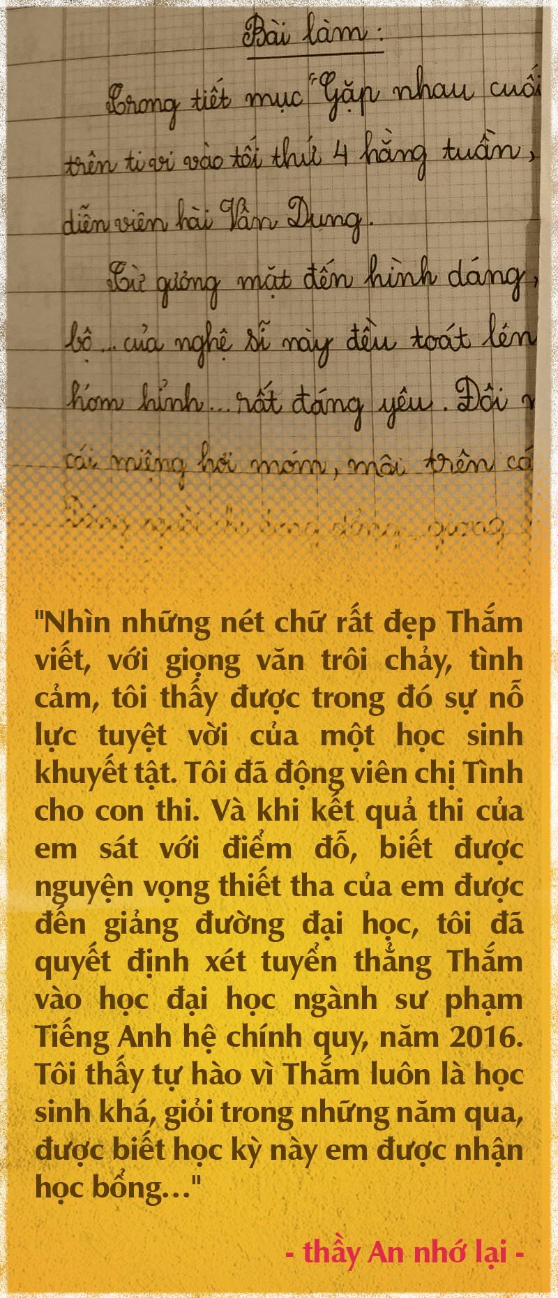 Nghị lực phi thường của Thắm không tay - Ảnh 5.