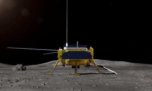 Tàu thăm dò Trung Quốc đáp xuống vùng tối Mặt trăng - Ảnh 1.