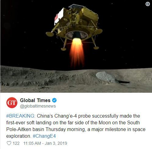 Tàu thăm dò Trung Quốc đáp xuống vùng tối Mặt trăng - Ảnh 2.