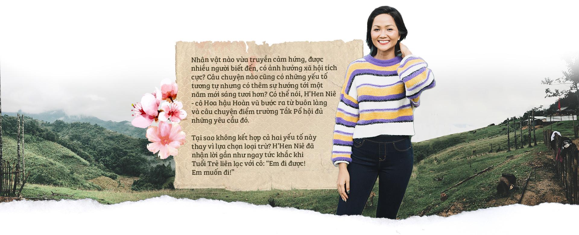 Tuổi Trẻ, HHen Niê đến với cô trò Tắk Pổ và câu chuyện bìa báo Tết Canh Tý 2020 - Ảnh 2.