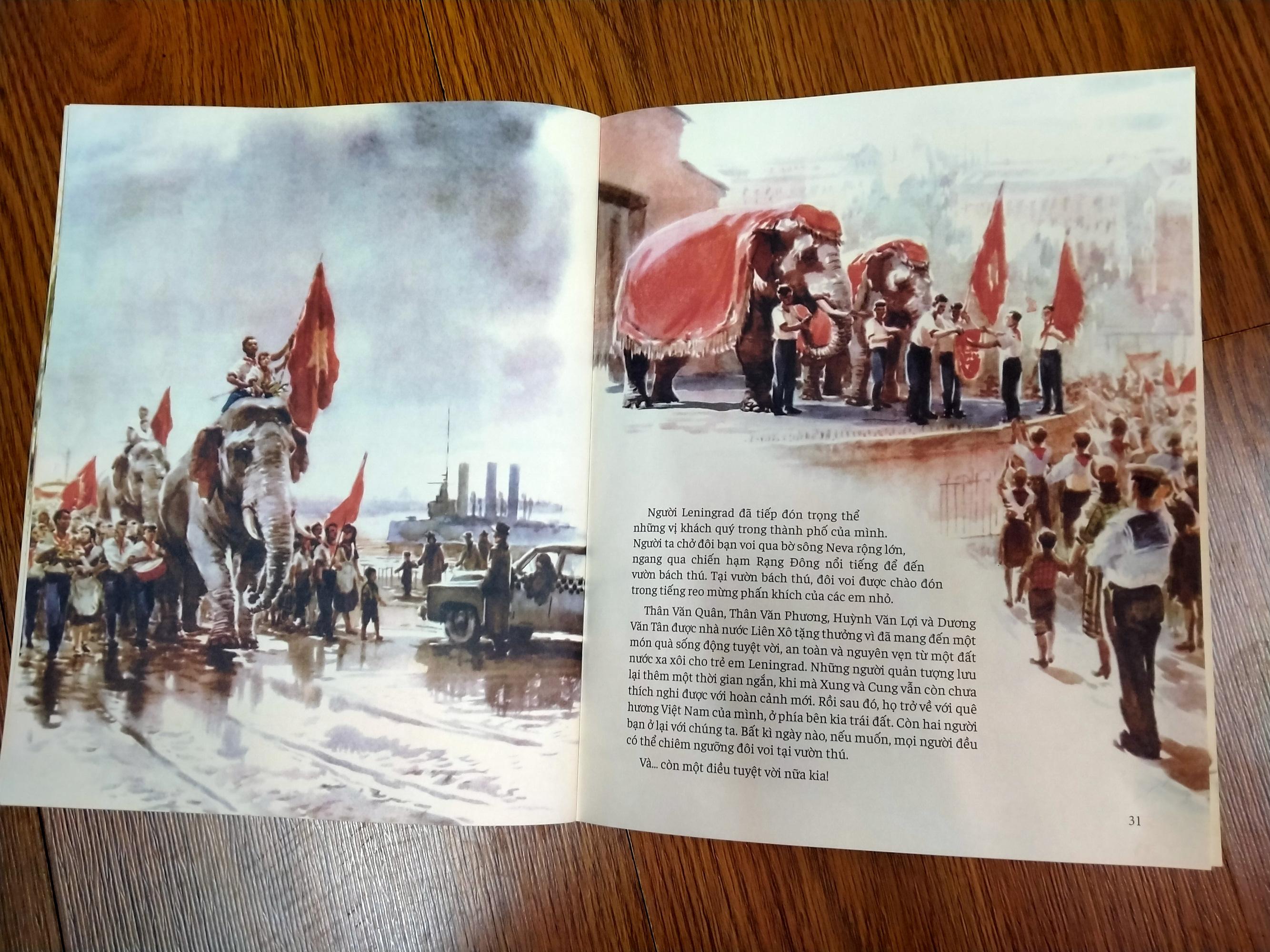 Lần đầu hé lộ chuyện 2 chú voi Việt Nam đến Nga 65 năm trước