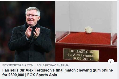 Viên kẹo cao su HLV Ferguson từng nhai được bán với giá 12 tỉ đồng - Ảnh 1.