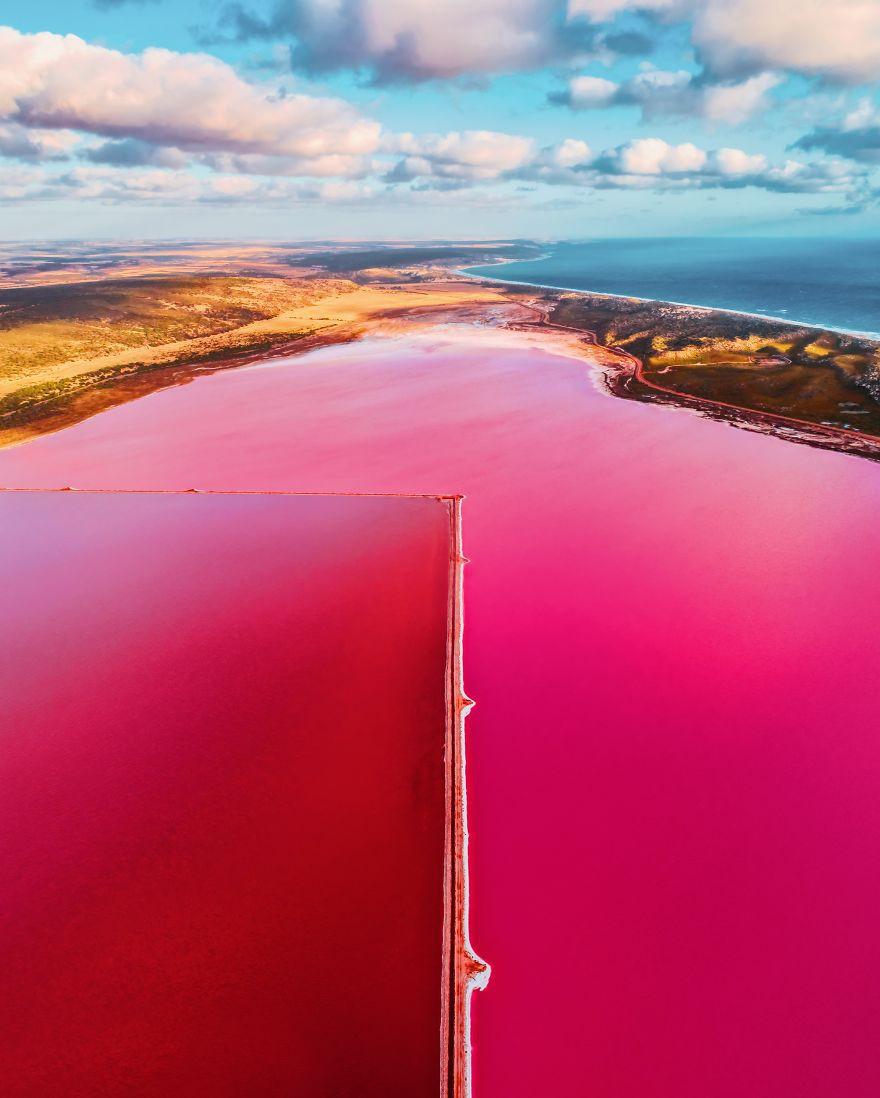 Kỳ lạ hồ nước màu hồng, đỏ, cam theo giờ - Ảnh 8.