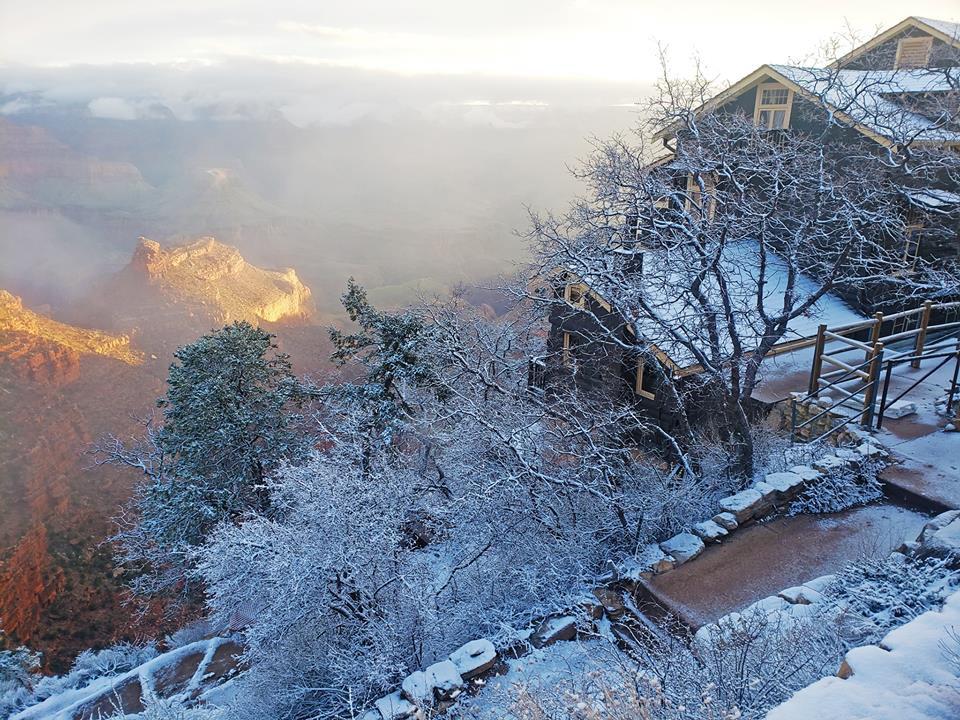 Kỳ quan Grand Canyon tráng lệ mùa tuyết rơi - Ảnh 6.