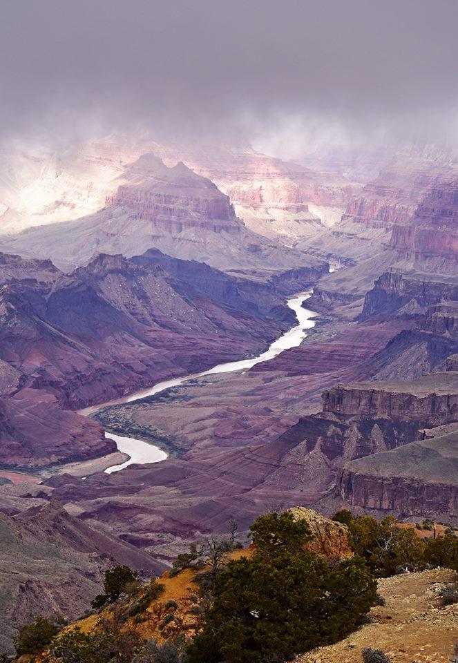 Kỳ quan Grand Canyon tráng lệ mùa tuyết rơi - Ảnh 4.