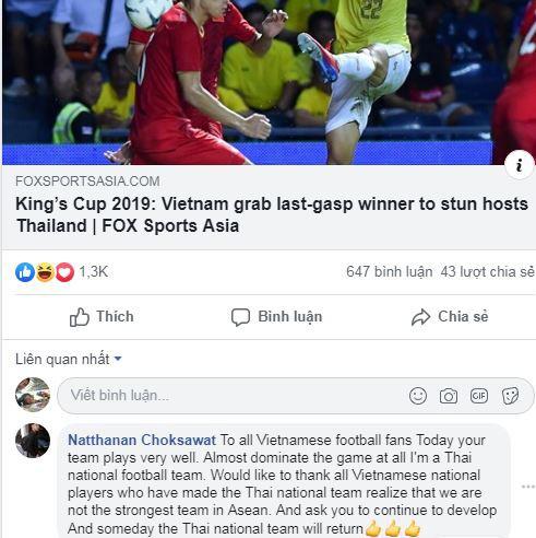 Cổ động viên Thái Lan thừa nhận Việt Nam thống trị trận đấu - Ảnh 1.