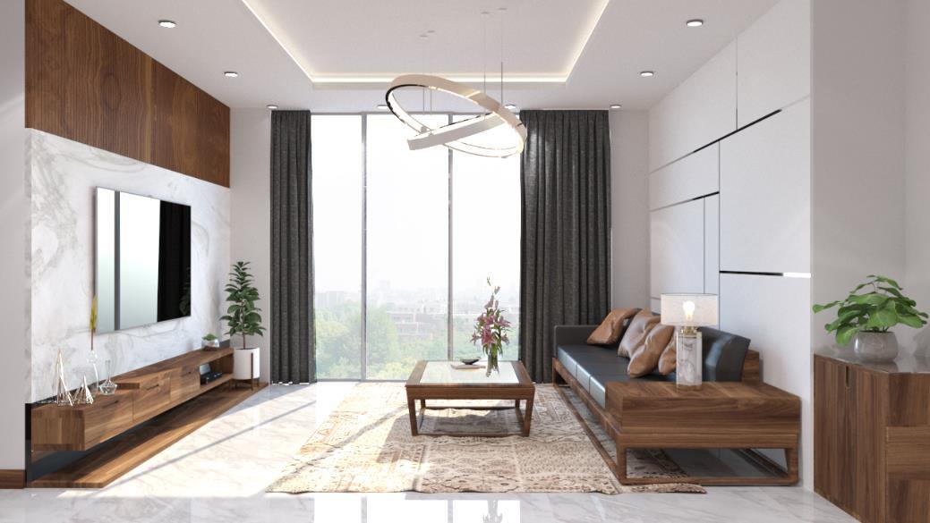 Căn hộ 3 phòng ngủ trở nên sang trọng, hiện đại hơn nhờ chất liệu gỗ tối màu - Ảnh 5.