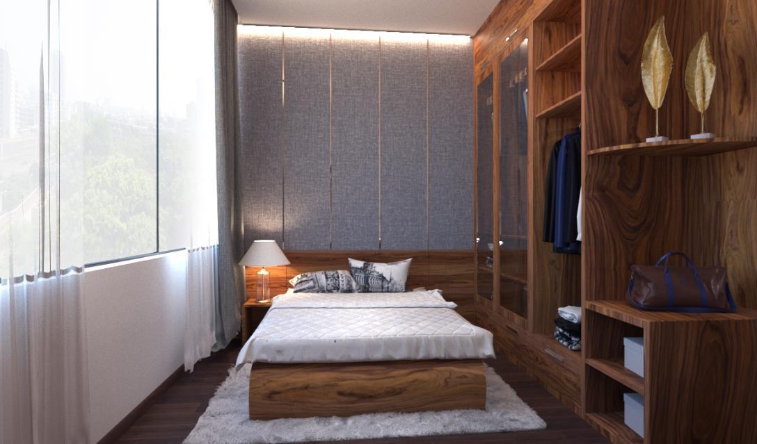 Căn hộ 3 phòng ngủ trở nên sang trọng, hiện đại hơn nhờ chất liệu gỗ tối màu - Ảnh 6.